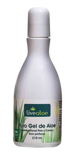 live aloe puro gel de babosa cuida fortalece restaura