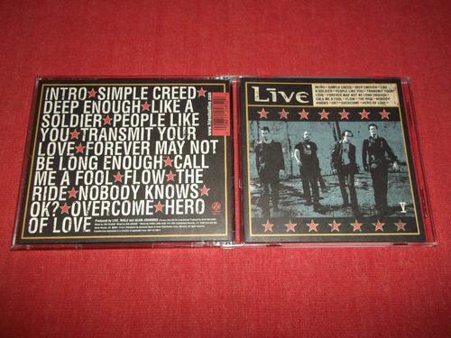 live - v cd importado ed 2001 mdisk