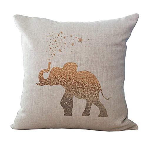 livebycare elephant printing funda de cojín