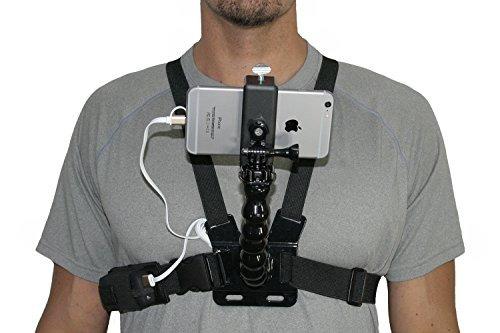 livestream gear batería y arnés para el pecho usables con