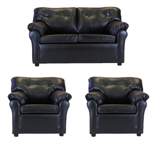 living américa 211 cuero sintético negro / muebles américa