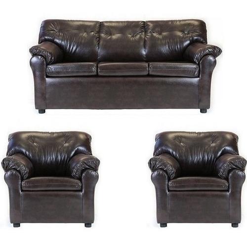 living américa 311 cuero sintético café / muebles américa