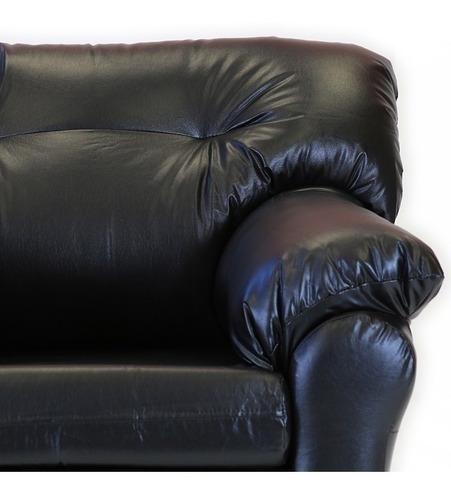 living américa 311 cuero sintético negro / muebles américa