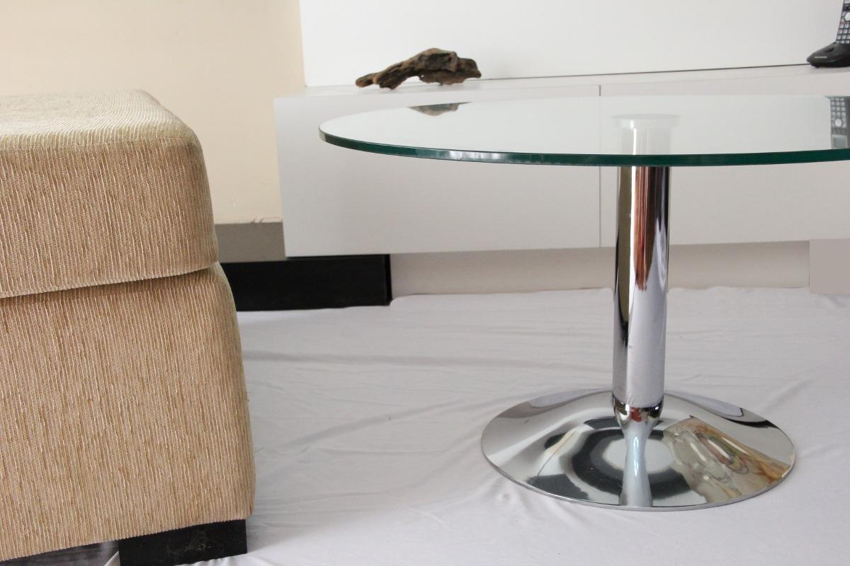 Mesa Ratona Living Diseño Redonda Vidrio Comedor 70 Cm - $ 6.800,00 ...