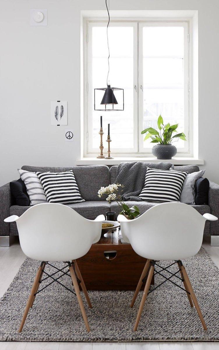 Decoracion Interiores Living Comedor Sillon Eames Blanco - $ 1.910 ...