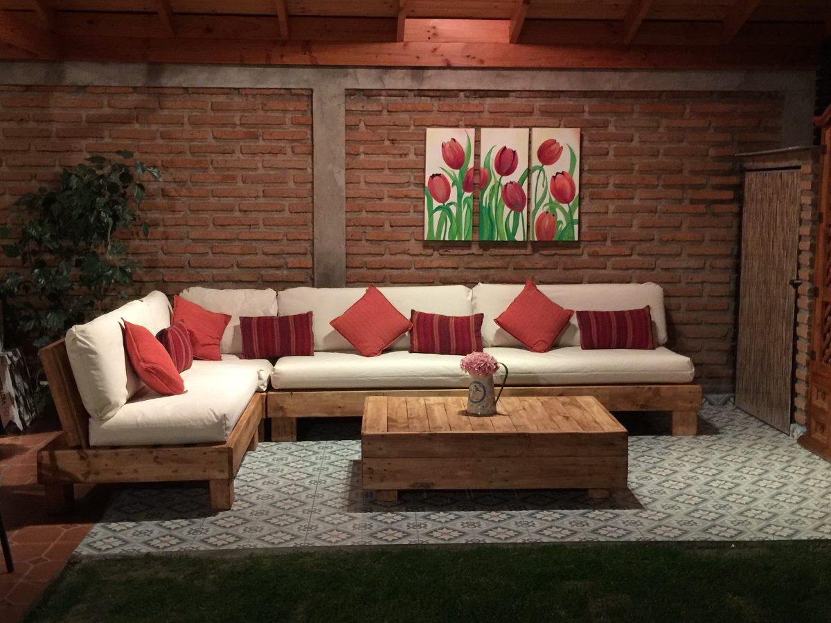 living de palets pallets en mercado libre. Black Bedroom Furniture Sets. Home Design Ideas