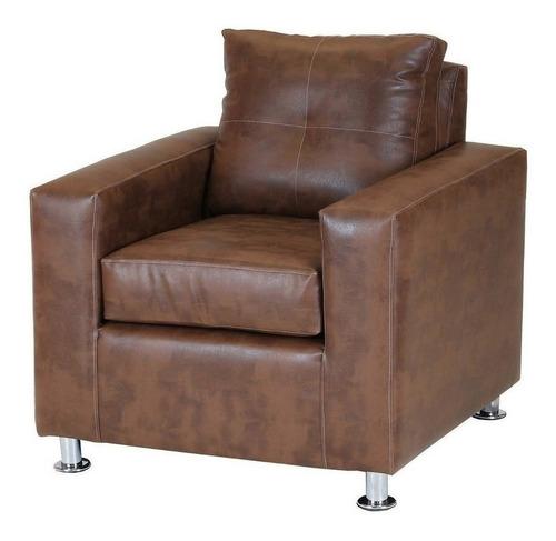 living facundo 321 pata metal pu caramelo / muebles américa