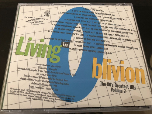 living in oblivion (the 80's greatest hits) 5 cds varios