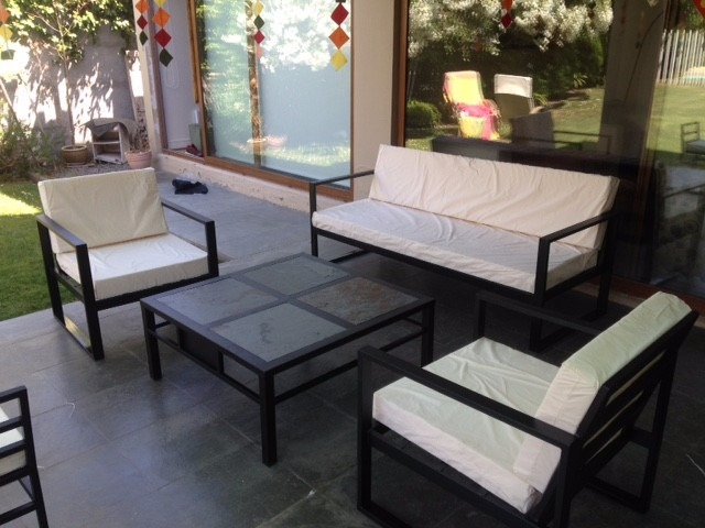 living terraza fierro modelo cubo en mercado libre