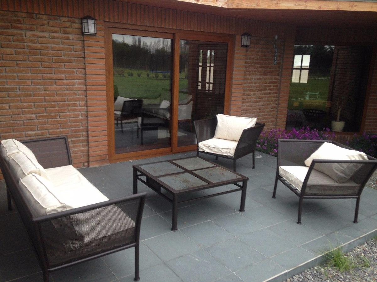 Living terraza fierro modelo malla curvo en for Terrazas living
