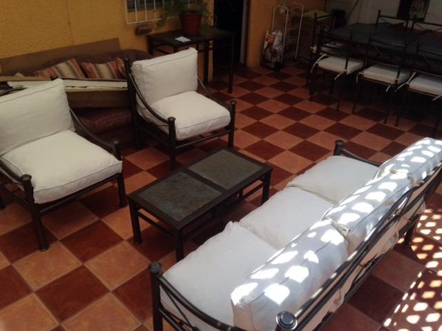 Living terraza fierro modelo nudo en mercado libre for Muebles terraza fierro