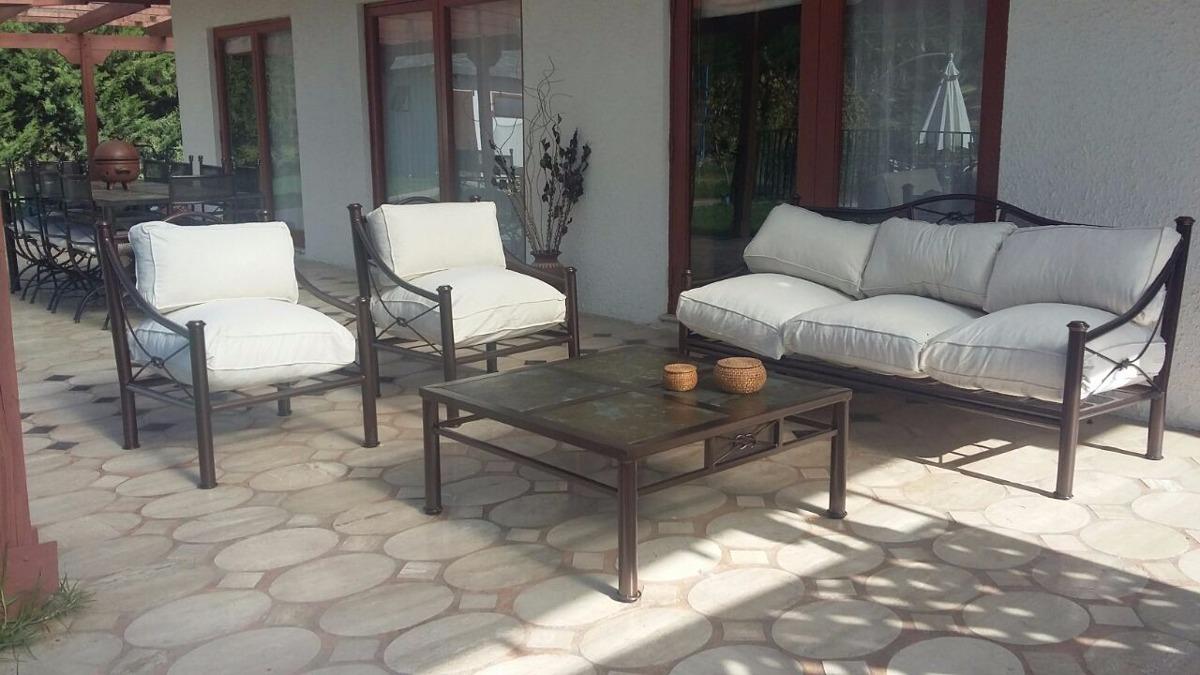 Living terraza fierro modelo nudo malla en for Sillones de terraza