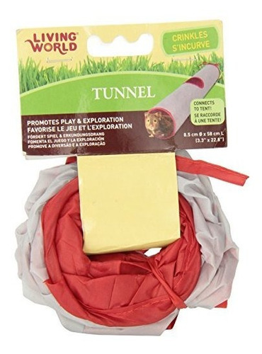 living world pet tunnel greyred