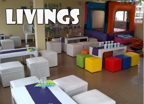 livings - castillos inflables -plaza blanda-pingpon