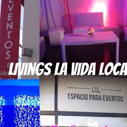 livings, eventos alquiler