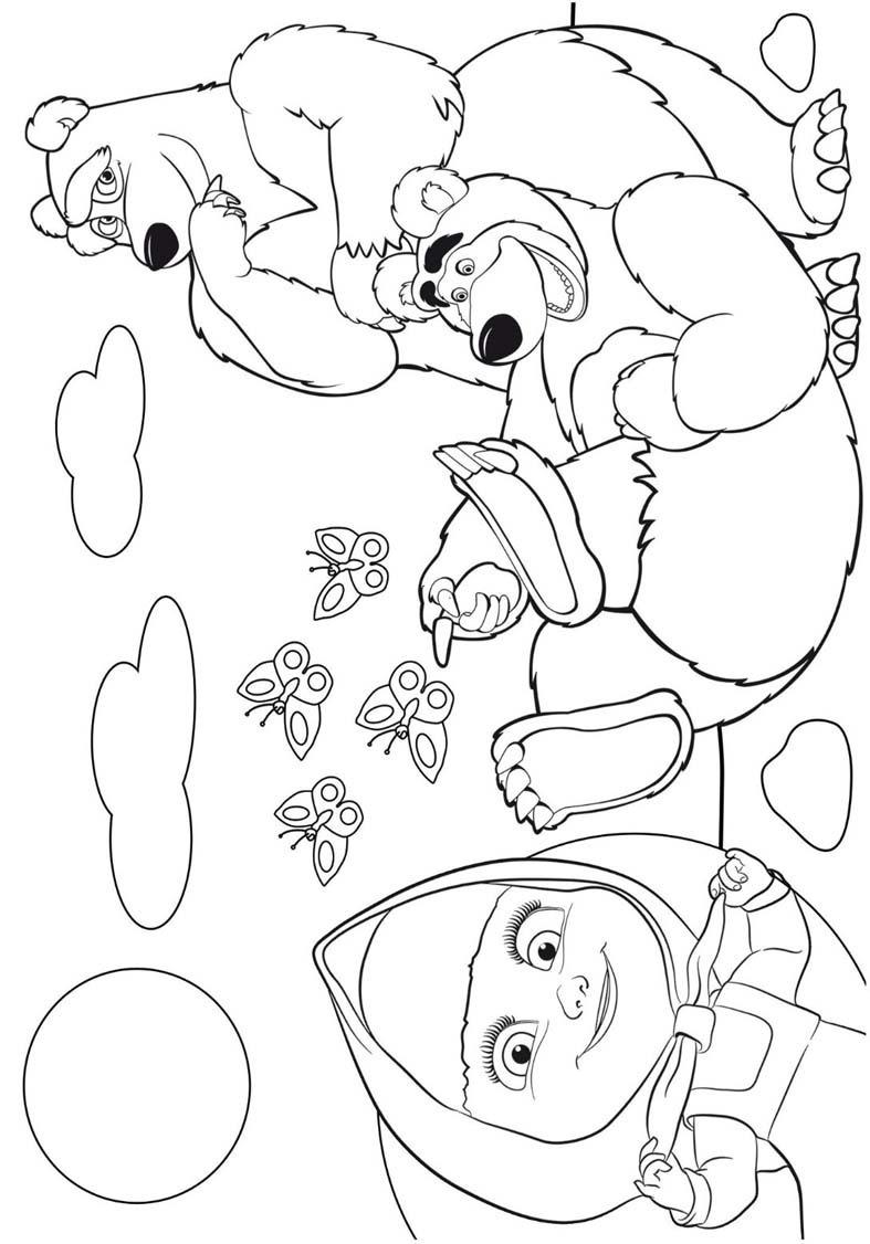 Livrinho Colorir Personalizado Masha E O Urso 15 Unidades R
