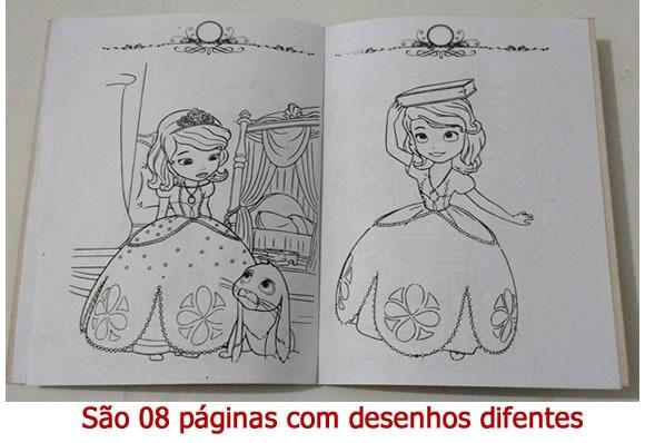 Livrinho Colorir Princesa Sofia 01 Unidade R 9 79 Em Mercado
