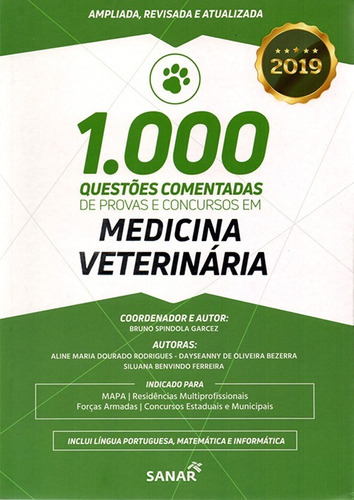 livro 1000 questões comentadas medicina veterinária