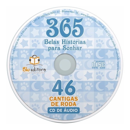 livro 365 belas histórias para sonhar + cd com 46 cantigas