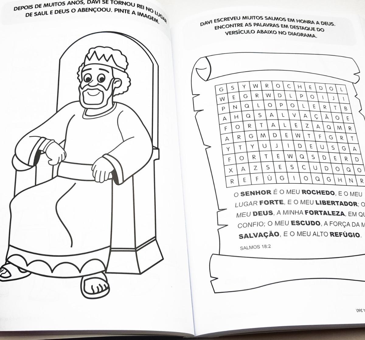 Livro 365 Desenho Para Colorir Biblico Evangelico Crianca R 32