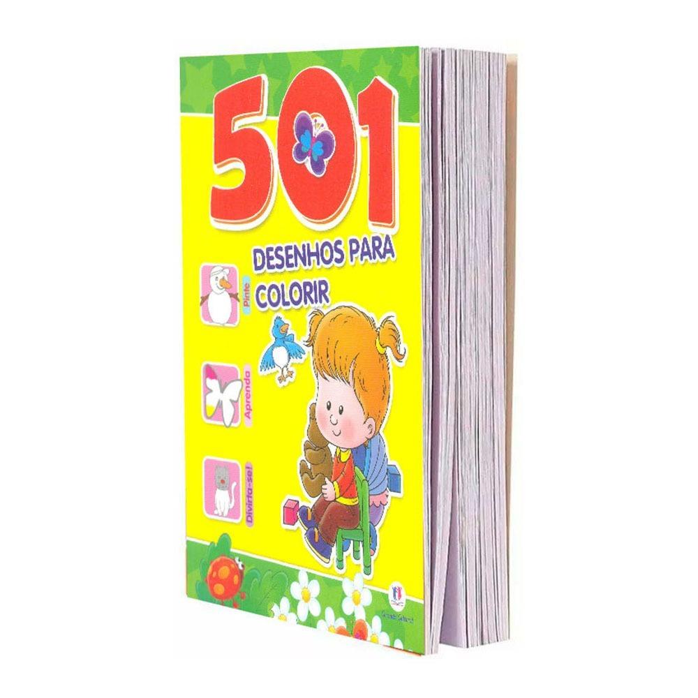 Livro 501 Desenhos Para Colorir Pinte Aprenda E Divirta Se R 24