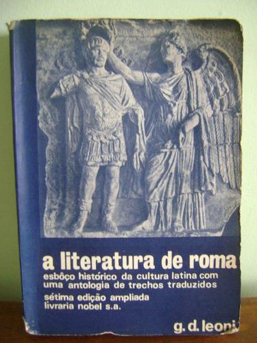 livro a literatura de roma g. d. leoni