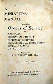Livro A Ministers Manual Orders Of Service Aubrey M E
