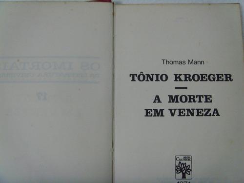 livro- a morte em veneza- thomas mann - frete gratis