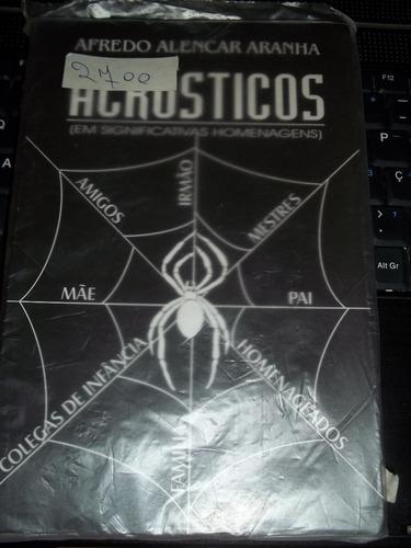 livro acrósticos em significativas homenagens  autografado