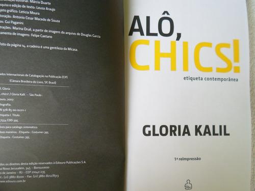 livro alô chics! na linha com glória kalil