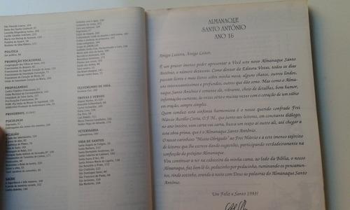 livro - almanaque santo antônio - ano 1993