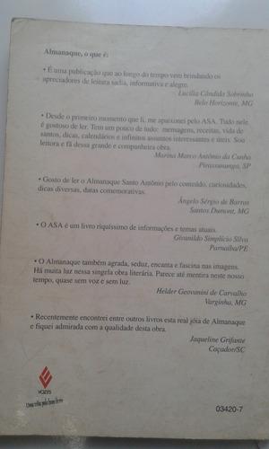 livro - almanaque santo antônio ano 1997 - autografado