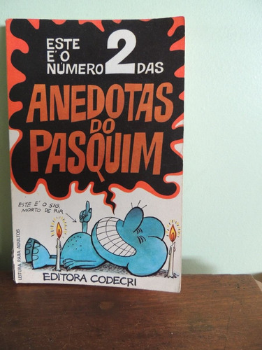 livro anedotas do pasquim 2 - ziraldo - jaguar - ed. codecri