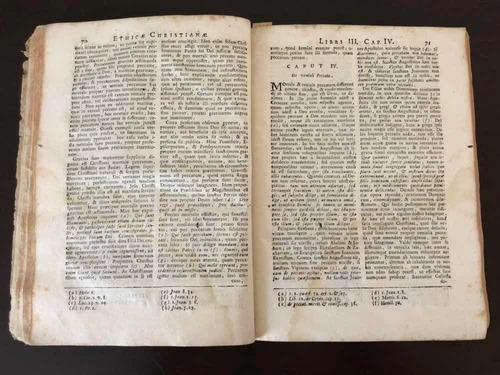 livro antigo 1758 theologia moralis antonii godeau latim