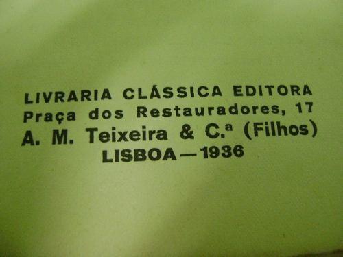 livro antigo árvores de fruto - henrique de barros 1936