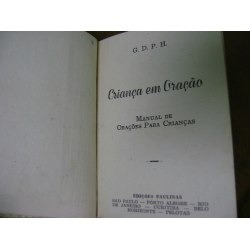livro antigo criança em oração mons. andré pedro frank 1952