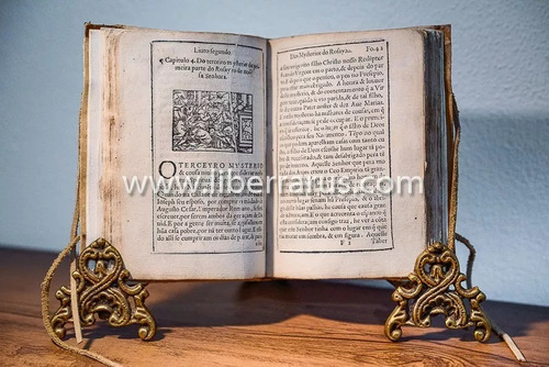 livro antigo raro - livro do rosayro de nossa senhora 1583