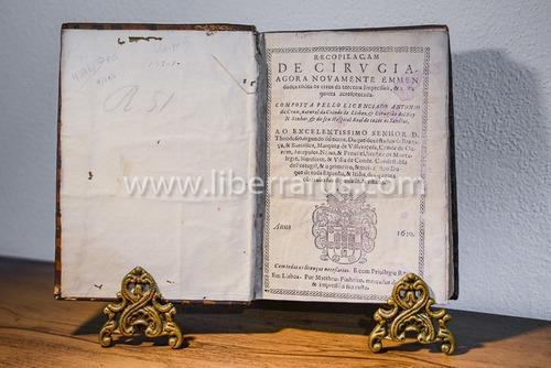 livro antigo raro - recopilaçam de cirvgia - 1630