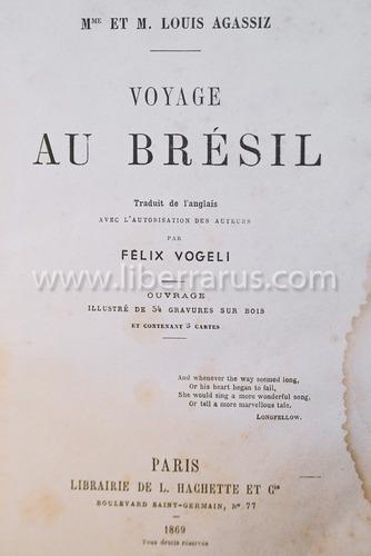 livro antigo raro - voyage au brésil - 1869