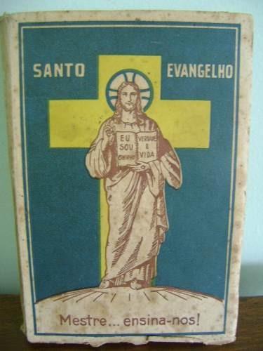 livro antigo santo evangelho mestre ensina-nos 1935
