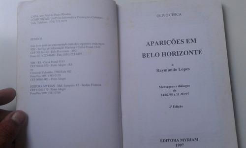 livro - aparições em belo horizonte - a raymundo lopes