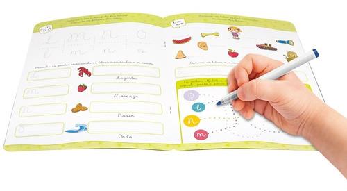 livro aprenda em casa escreva e apague letra cursiva