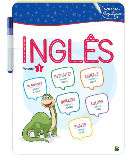livro aprenda em casa escreva e apague letra inglês v1