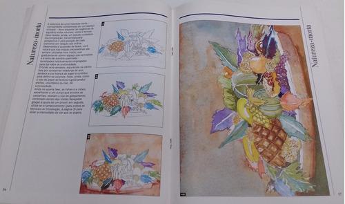 livro aquarela escola de arte técnicas 3 editora globo