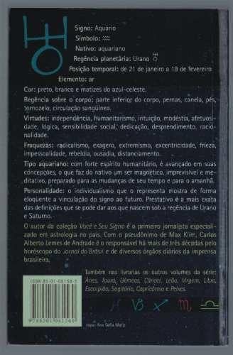 livro: aquário - max klim (astrólogo do jornal do brasil)