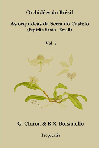 livro as orquideas da serra do castelo, vol. 03