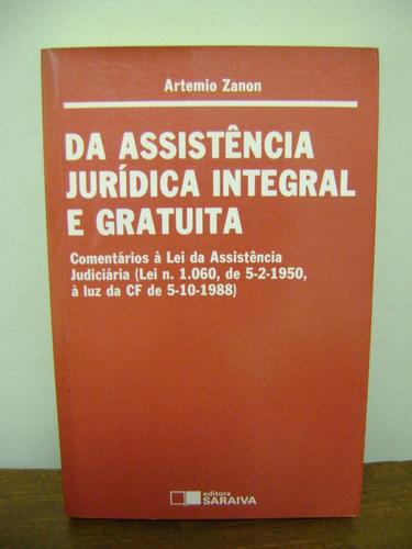 livro assistência jurídica integral gratuita artemio zanon