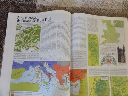 livro: atlas  história do mundo - folha de são paulo- 1995.