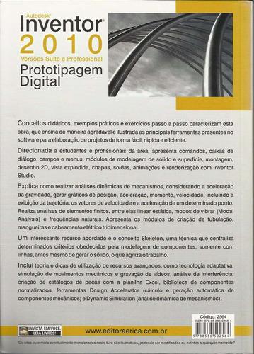 livro autodesk inventor 2010 versões suite e profissional