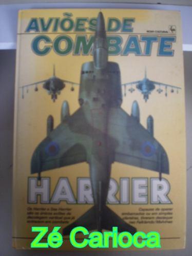livro aviões de combate harrier